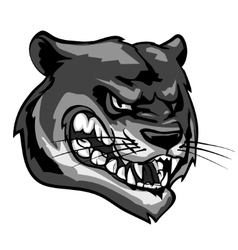 Panther mascot team label design vector image