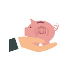 piggy money saving vector image