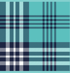 Plaid pattern seamless turquoise texture vector