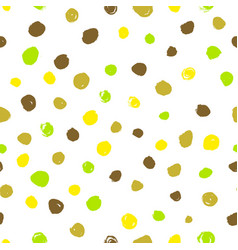 Polka dot seamless pattern hand drawn artistic vector