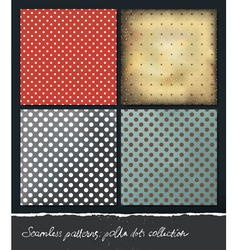 Polka dots backgrounds collection eps10 vector