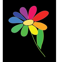 Rainbow flower vector
