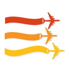 Retro Airplane Banner vector image