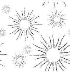 Retro Sunburst Linear Seamless Pattern vector image