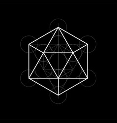 sacred geometry with vector image