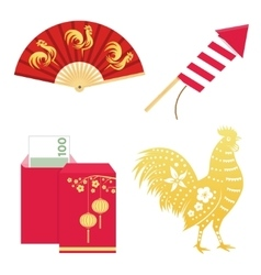 set chinese new year design elements include vector image