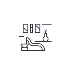 spa rest room line icon sign vector image