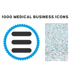 Stack Icon with 1000 Medical Business Pictograms vector image