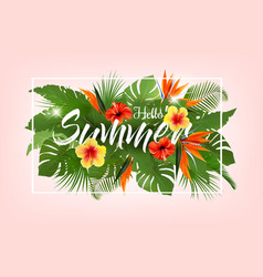 summer tropical holiday background with exotic vector image