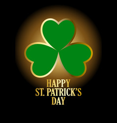 text of happy saint patricks day with vector image