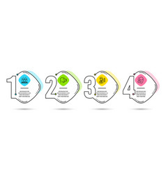 Third party best manager and face id icons vector