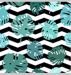 Tile tropical pattern for seamless decoration wall vector