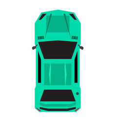 Top view of a car vector