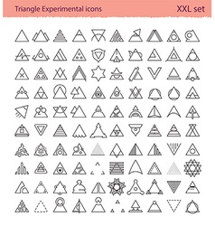 Triangle experimental icons vector image