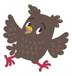 Trowbled running owl vector