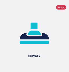 Two color chimney icon from furniture concept vector