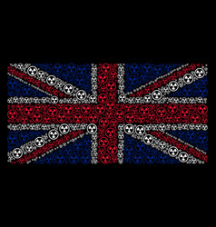 uk flag pattern of radioactive items vector image