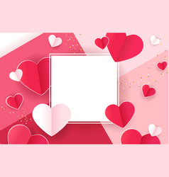 valentines card love banner vector image