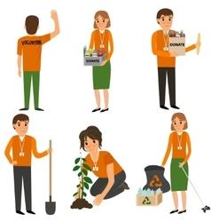 Volunteer People in work vector