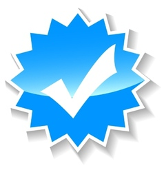 Yes blue icon vector
