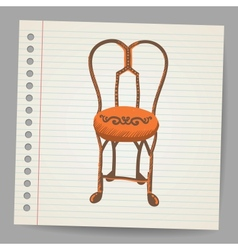 Chair Doodle style vector image