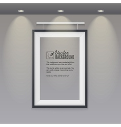 empty frame to the wall with lights vector image