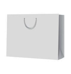 empty shopping bag mockup realistic style vector image vector image
