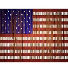 grunge usa flag Eps10 vector image