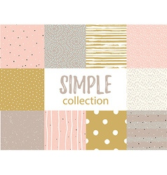 Seamless patterns with universal simple textures vector