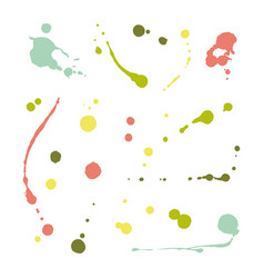 collection of hand-drawn splashes set of brush vector image