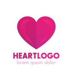heart logo design pharmacy medicine health care vector image
