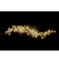 magic background with gold sparkles vector image vector image
