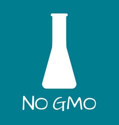 no gmo label food intolerance symbols vector image