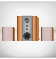 Speakers with subwoofer vector image