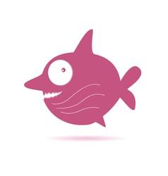 sweet pink fish vector image