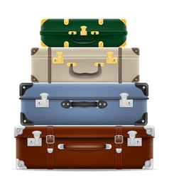 travel suitcases stock vector image vector image