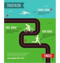 triathlon Triathlon poster vector image