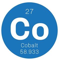 Cobalt chemical element vector image
