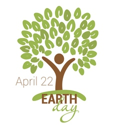 Earth Day greeting vector image vector image