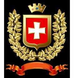gold oak with a escutcheon vector image