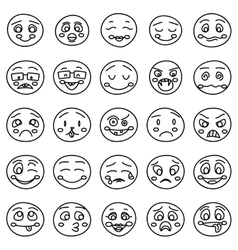 Hand drawing of emoticons or doodle vector image