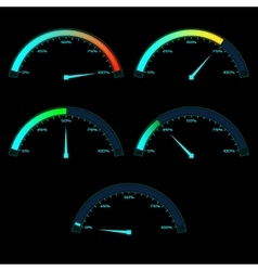 Power or Speed Meter Dashboard Gauge vector image vector image