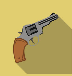 revolver icon flate singe western icon from the vector image