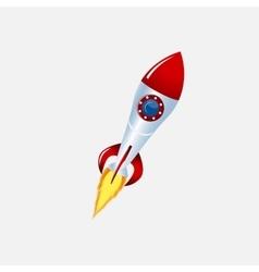 rocket and spacecraft color vector image
