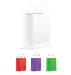 Set of Empty Shopping Bags vector image vector image