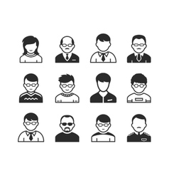 Users avatar icons vector image vector image