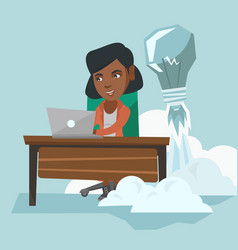 african manager working on a new business idea vector image vector image