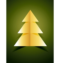 creative golden xmas tree vector image