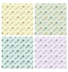 cutlery pattern vector image vector image