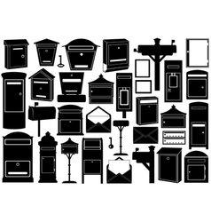 Set of different mailboxes vector image vector image